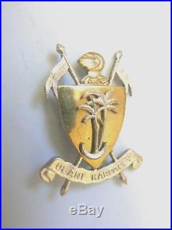 #1266 POLAND POLISH WWII CARPATHIAN ULAN BADGE, gold and silver gilt, rare