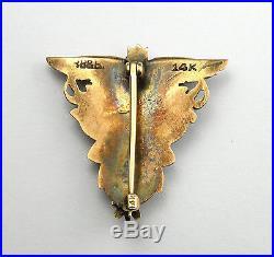 14 Karat Yellow Gold 1926 United States Naval Academy Pin Brooch