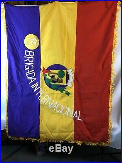 15 Brigada Internacional Standardt Flag Reproduction Spanish Civil War