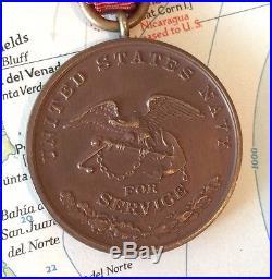 1912 U. S. Navy Nicaraguan Campaign Medal Split Wrap Brooch 1930's Bb&b