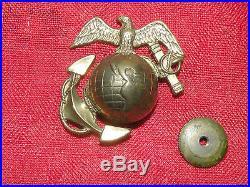 1920-30's USMC EGA US China Marine Corps DROOP WING Eagle Hat Cap Badge RARE
