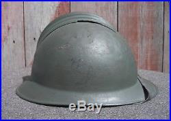 1920's Italian WW1 WW2 Adrian Helmet 6th Mountain Artillery, Liner & Strap