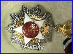 1921 Jordan Order of Independence Medal Badge Wissam Istiqlal Hussein Bin Ali