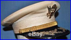 1930's U. S. Army Full Dress Field Grade White Officer's Cap