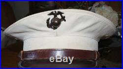 1930's USMC Dress White Cover Enlisted Visor