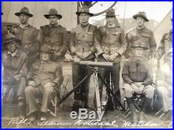 1930s Camp Perry Ohio MA National Guard Rifle Marksmanship Yardlong Photos 3 lot