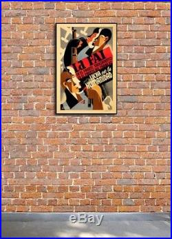 1930s Spanish Civil War Poster La FAI en el Frente Sangriento 20x30