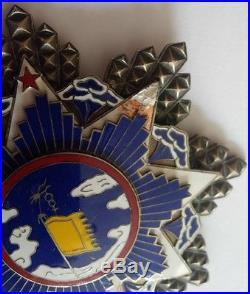 1935 China Order of the Resplendent Banner & Cloud Breast Star Grand Cross Medal