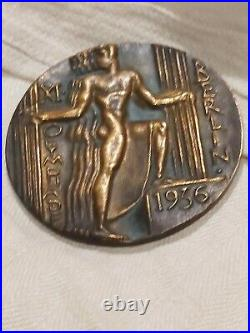 1936 Berlin Olympics XI Olympiad Participant Bronze Medal Original German ESS
