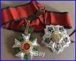 1936 Lebanon National Order of Cedar Neck Badge Breast Star Medal Nichan 2 Class