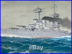 1937 USS Colorado BB-45 Original Framed Art