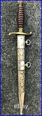 1939 Kingdom of Yugoslavia Royal Infantry officers dress dagger and scabbard