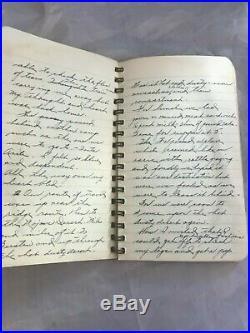 1942 Hand Written Japenese Journal From LA. To Internment Camp Parker, Az