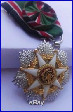 1976 Jordan Order of Military Merit Chest Medal Badge Wissam Istihqak Alasskari