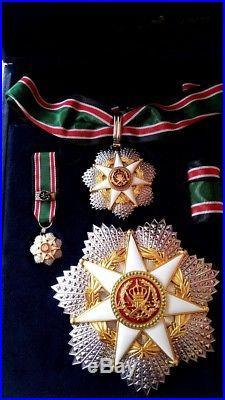 1976 Jordan Order of Military Merit Complete Set Medal Badge Wissam Istihqak