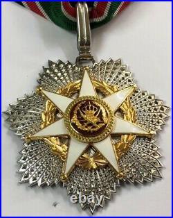 1976 Jordan Order of Military Merit Neck Badge Medal Wissam Istihqak Commander