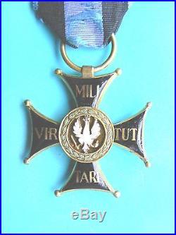 #26 POLAND POLISH ORDER VIRTUTI MILITARI, 3rd class #86 1920s, cross, medal