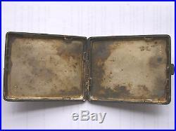 3 of 4 POLAND CIGARETTE CASE, STERLING, 1920s 49PP regimental badge, rare militaria