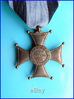 #30r POLAND POLISH ORDER VIRTUTI MILITARI, 5TH CL, 1930s, medal, restrike, wtornik