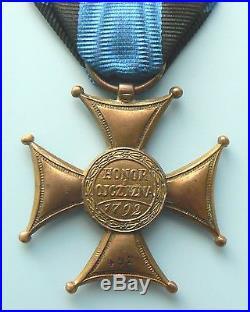 #492 Jan Bartos POLAND POLISH ORDER VIRTUTI MILITARI, 5th cl. 1921Type I very rare