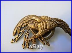 #669 POLAND POLISH AIR FORCE WWII PILOT OBSERVER WING BADGE BRITISH MADE, rare