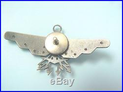 #687b POLAND EXILE MADE NAVY OBSERVER WINGS, 1933 type, Col. Bialkiewicz, very rare