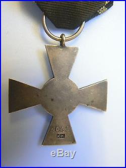 #72 POLAND RUSSIA BALACHOWICZ CROSS OF VALOR #4042, hallmarked, TYPE I, silver