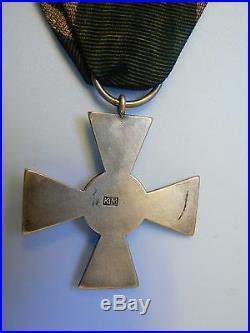 #72 POLAND RUSSIA BULAK BALACHOWICZ CROSS OF VALOR, hallmarked, sterling, rare