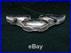 727. 1920-30's Airship Pilot's wing marked Sterling, full size, pin back, no mak
