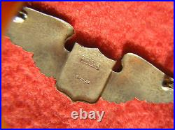 748. 1930s USAAC BB&B Pilots wing, full size, hollow back, PB, bronze withsilver wash