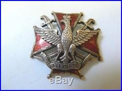 #823c POLAND WWI POLISH ARMED FORCES IN ODESSA RUSSIA REGIMENT BADGE, copy