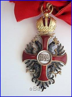 Austria Grand Cross Set Order Of Franz Joseph 1950's Variation. Rare. Ef