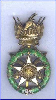 Albania Order Of Skanderbeg Officer Pin Back Breast Badge