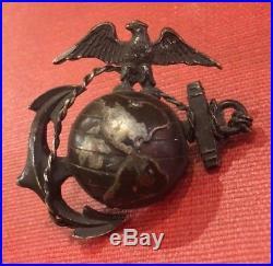 Antique USMC P1914 EGA Officer's Hat Device