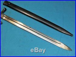Argentine 1891 Turk 1893 1903 1935 Spanish 1916 Mauser Bayonet & Scabbard