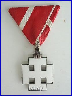 Austria First Republic Order Of Merit Knight Grade. White Enamel. Rare Vf+