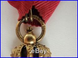Austria Imperial Order Of Franz Joseph Knight Grade On CIVIL Ribbon. Rare Vf+