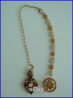 Austria Imperial Order Of Franz Joseph Miniature & Chain. Made In Gold! Rare