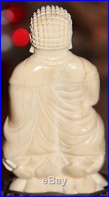 Authentic From Shanghai China Ivory Color Buddha Estate Sale
