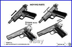Authentic Replica M1911A1 Chrome Finish Colt. 45 Automatic Pistol Non-Firing Gun