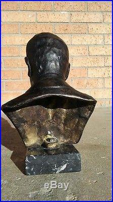 Benito mussolini bronze pre ww2 bust statue