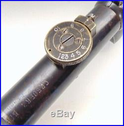C. P. Goerz Berlin 3x German Scope Wwi With Leather Case