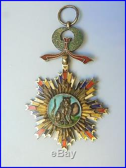 CHINA EMPIRE, ORDER OF THE STRIPED TIGER, GRAND CROSS, extremely rare