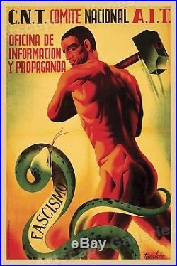 CNT Comite Nacional AIT 1930s Spanish Civil War Poster 24x36