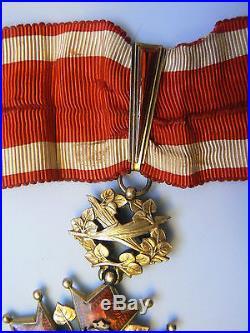 CZECH REPUBLIC CZECHOSLOVAKIA ORDER OF THE WHITE LION, COMMANDER, 1930s, SUPERB