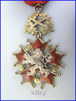 CZECH REPUBLIC ORDER OF THE WHITE LION, MILITARY, swords 4th class, 1930s, SUPERB