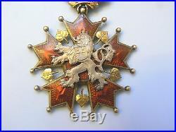 CZECH SLOVAKIA REPUBLIC ORDER OF THE WHITE LION, COMMANDER, 1930s, SUPERB
