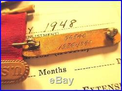 China Marine Good Conduct Yangtze Service Expeditionary Medal Service Record