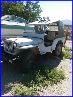 Classic Jeep military 1943 only few miles since rebuild engine and trans