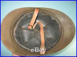 Compl 1920's Belgian M15 greenish helmet casque Stahlhelm casco elmo kask m